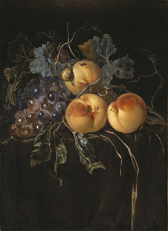 Still Life with Peaches and Grapes