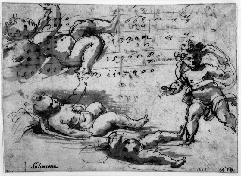Three studies for the Christ Child and a putto
