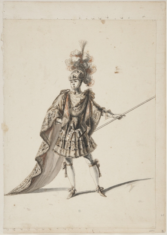 Sketch for costume in the opera Amadis by Lully