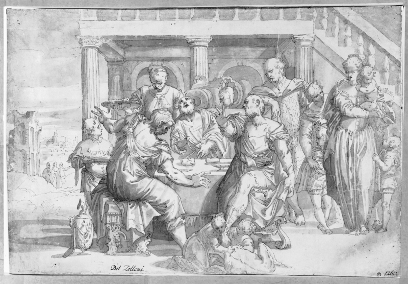 Christ and the Two Apostles in Emaus