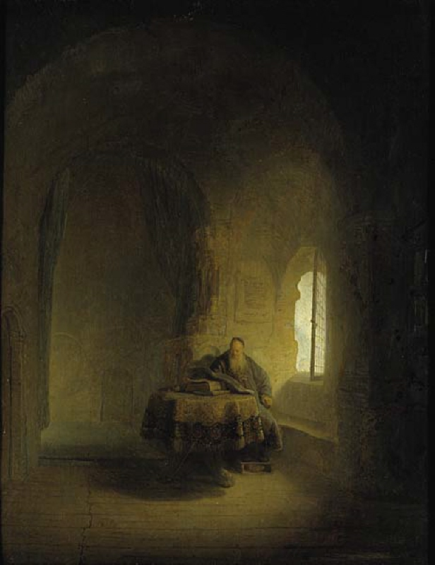 "Old Scholar in a Vaulted Chamber (""St Anastasius"")"