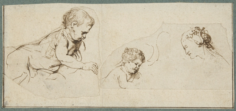 Studies of the Christ Child and St Catherine